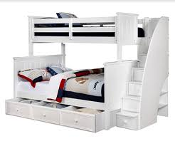 Bunk Bed With Stairs And Trundle Twin Full Jordan Bunk Bed Rooms4kids