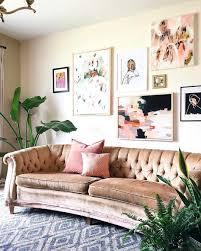 Emily Henderson by Pink Velvet Couch Emily Henderson Interior Design Pinterest