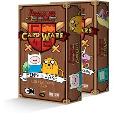 wars cards adventure time card wars collector s pack cryptozoic entertainment