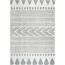 Tribal Area Rug Nuloom Shaina Tribal Grey 8 Ft X 10 Ft Area Rug Rzbd71a 8010