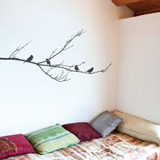 sparrows tree wall stickers uk blossom tree decals for living room branch with sparrows wall sticker