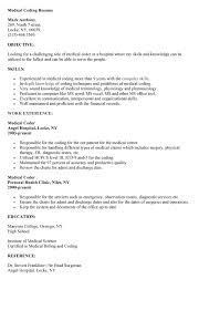 Medical Sample Resume by Medical Coding Resume Samples Cv Resume Ideas