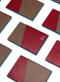 brown collection burgundy brown nfc cardholder striiiipes