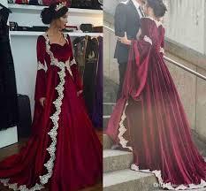 arabic evening dress long sleeve burgundy 2018 womens evening prom