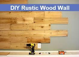 diy rustic wood wall diy comfy home