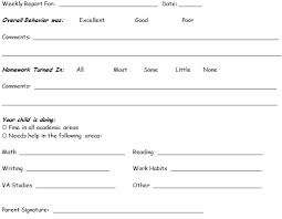 daily behavior report template sle weekly report tomu co
