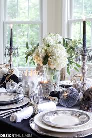 halloween lace tablecloth black and white table top ideas for an elegant halloween dinner