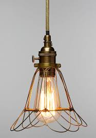 Caged Pendant Light Industrial Edison Workshop Cage Lamp Medium Nova68 Com