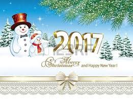 merry and happy new year 2017 royalty free cliparts