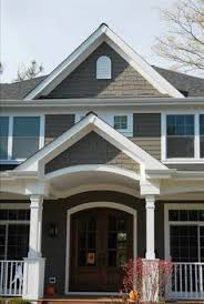 vinyl siding color tuscan clay white trim u0026 dark gray roof