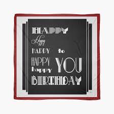 happy happy happy birthday 1920s art deco style