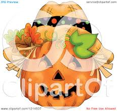 scarecrow halloween clipart of a scarecrow halloween pumpkin jackolantern royalty