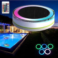 solar swimming pool lights remote control solar power led colorful swimming pool light garden