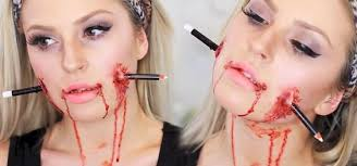 how to impale your face for halloween with this bloody diy pencil