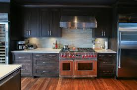 wolf stoves kitchen contemporary with dark wood cabinets glass