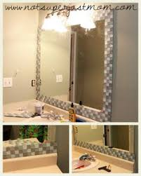 Framing Existing Bathroom Mirrors by Incredible Bathroom Makeover Ideas Anyone Can Diy Tile Mirror