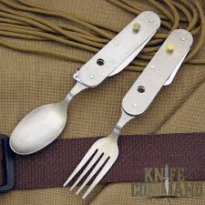 knives of alaska titanium utensil set knife fork spoon knifecommand