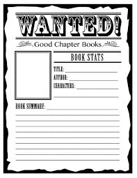 book report movie poster template