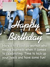 to my cool co worker happy birthday wishes card birthday