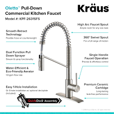 kitchen faucet commercial kraus oletto single handle pull commercial kitchen faucet