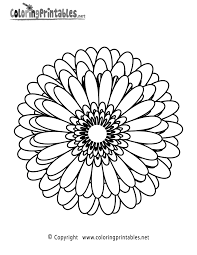 100 simple printable coloring pages 23 flower mandala printable