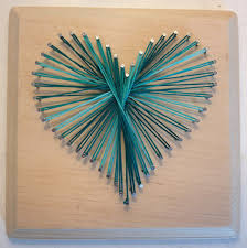 wall art ideas design hearts shaped turqoise craft wall art
