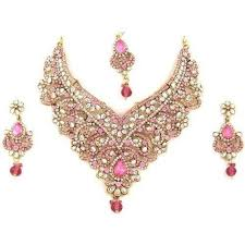 indian bridal jewelry necklace images Indian bridal gold necklace jewellery valentine jewellery india jpg