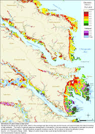 Road Map Virginia by More Sea Level Rise Maps For Virginia