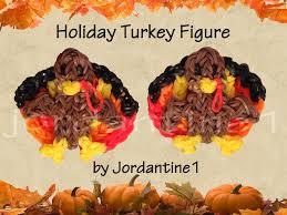 new 3d turkey figure charm rainbow loom thanksgiving