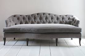 Grey Button Sofa Fancy Gray Velvet Tufted Sofa 17v83qlt65wid236hei236op Regarding