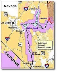 lake mead map lake mohave part of lake mead nra desertusa