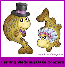 wedding cake toppers and groom fishing wedding cake toppers mccoy blaske