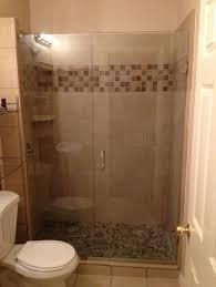 Tub Shower Door Bathroom Hinged Frameless Glass Shower Door Corner Near Bathtub
