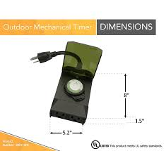 Outdoor Daily Photocell Timer 1 by Woods 50011wd Outdoor 24 Hour Plug In Mechanical Timer 2 Grounded