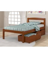 Bedroom Furniture Solid Wood Construction Amazon Com Solid Wood Espresso Twin Bed With Drawers Kitchen