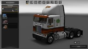 kenworth shop the wood shop v1 skin american truck simulator mod ats mod