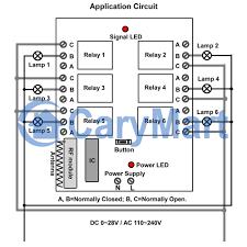 6 channel 500m ac 220v rf remote control set transmitter