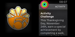 apple has a special thanksgiving activity achievement run