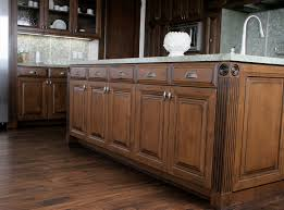 White Knotty Alder Cabinets Incridible Wooden Distressed Alder Cabinets With White Marble Top