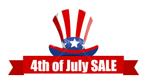 ribbon sale 4th of july sale ribbon banner vector royalty free stock image