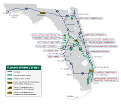 Driving Map Of Florida by Florida U0027s Turnpike The Less Stressway