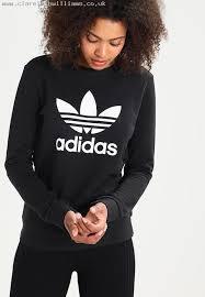 fast delivery women adidas originals trefoil sweatshirt black cc5189