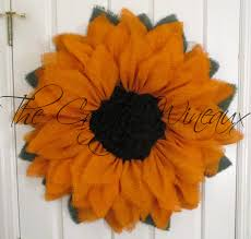 sunflower mesh wreath rich burlap sunflower wreath the crafty wineaux