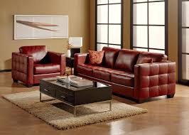 Top Leather Sofas by Red Top Grain Leather Sofa