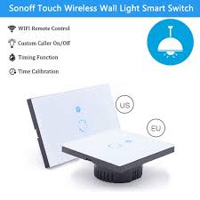 wireless wall light switch sonoff touch eu us plug wifi wall light switch for smart home glass