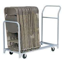 raymond folded stacked chair tote u2014 24 chair capacity model 600