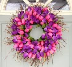 Etsy Easter Door Decorations by 138 Best Tulip Wreaths Images On Pinterest Spring Wreaths Tulip