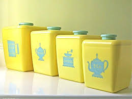 vintage kitchen canisters yellow kitchen storage jars vintage kitchen canisters yellow aqua