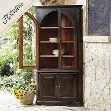 florentina gabriele corner china cabinet in antique mahogany