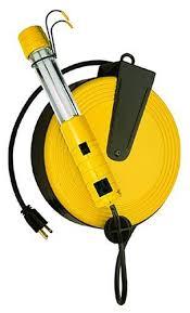 bayco led portable work light bayco sl 825 13 watt fluorescent work light with 40 feet cord reel